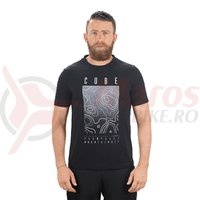 Tricou Cube T-Shirt Fichtel Mountains negru