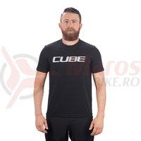 Tricou Cube T-Shirt logo negru/alb