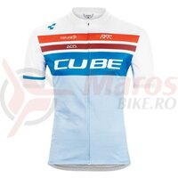 Tricou Cube Teamline Jersey Competition S/S White Blue Red