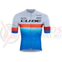 Tricou Cube Teamline Jersey Blue Red Grey