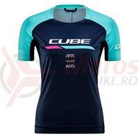 Tricou Cube Teamline WS Round Neck Jersey S/S Blue Mint