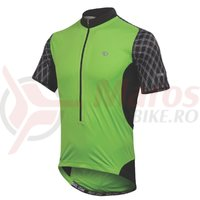 Tricou elite 3/4 zip barbati Pearl Izumi ride greenflash black