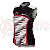 Tricou fara maneci select LTD femei Pearl Izumi ride poker star black