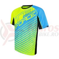 Tricou Force MTB Attack fluo/albastru