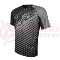 Tricou Force MTB Attack negru/gri