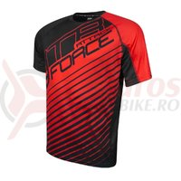 Tricou Force MTB Attack negru/rosu