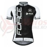 Tricou Force Team18 maneci scurte negru/alb