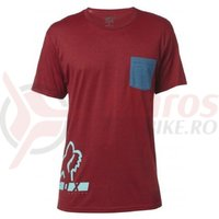 Tricou Fox Displaced SS Tee Heather Red