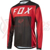 Tricou Fox Indicator LS Moth jersey red/black