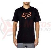 Tricou Fox Legacy Foxhead SS Tee black/orange