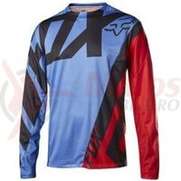 Tricou Fox MTB-Jersey Demo LS Jersey blue/red