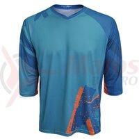 Tricou FUNKIER Dolomiti-K Enduro Kids 3/4 sleeve - Green/Orange