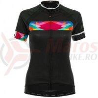 Tricou FUNKIER Nugola-2 Pro Women S/S - Black/Multicolor