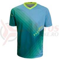 Tricou FUNKIER Termoli Enduro Men S/S - Blue/Green