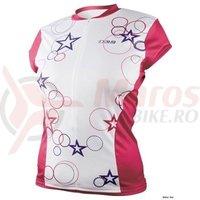 Tricou iXS Esterel Lady MTB-Pro white-red