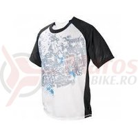 Tricou maneca scurta iXS Trigger DH-Elite white-black