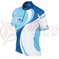 Tricou maneca scurta Shimano femei MTB olympian blue/bonnie blue/white