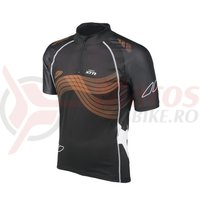 Tricou maneca scurta Shimano XTR black/bright orange/white