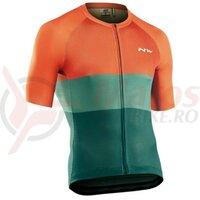 Tricou Northwave Blade Air, Green/Siena Orange