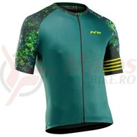 Tricou Northwave Blade, Black/Green/Lime