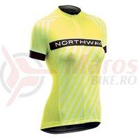 Tricou Northwave Logo 3 WMN woman maneci scurte galben fluo