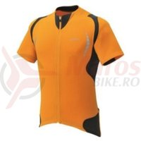 Tricou Performance maneca scurta full zip barbati orange blaze/black Shimano