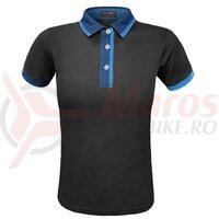 Tricou Polo Funkier Bari Active Men S/S - Black/Blue