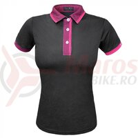 Tricou polo FUNKIER Bari W Active Women S/S - Black/Pink