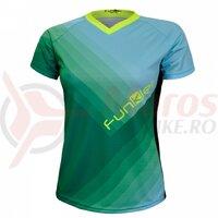 Tricou polo FUNKIER Termoli-W Enduro Women S/S - Green/Blue