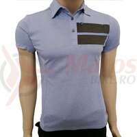 Tricou polo Shimano transit short sleeve ladies purple impression
