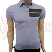 Tricou polo Shimano transit short sleeve ladies purple impression