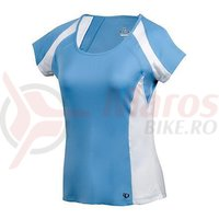Tricou select Aurora cap sleeve top femei Pearl Izumi run jets white