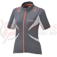 Tricou Shimano Accu3D maneca scurta explorer gargoyle/orange
