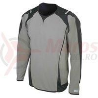 Tricou Shimano All Mountain maneca lunga barbati titanium/negru