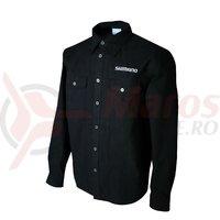 Tricou Shimano casual negru/alb