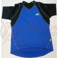 Tricou Shimano indoor pentru barbati maneca scurta larg negru/albastru