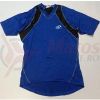 Tricou Shimano indoor pentru barbati maneca scurta negru/albastru