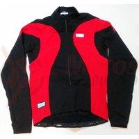Tricou Shimano Performance windflex silver maneca lunga negru/rosu