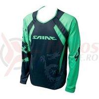 Tricou Shimano Saint maneca lunga negru/verde