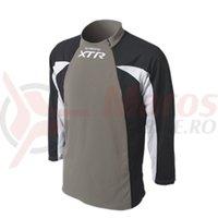 Tricou Shimano XTR maneca lunga titanium/negru