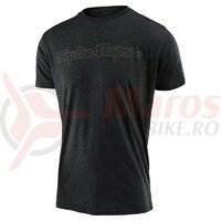 Tricou Troy Lee Designs Signature tee Charcoal heather 2021