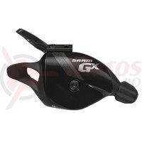 Maneta schimbator GX 2X10V, links Black, with clamp
