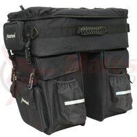 triple pannier bag Haberland black, 60 ltr