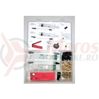 Trusa Scule Tektro Tackle Box Bleeding Kit, Seringi, Placute, Fitinguri, Cutter