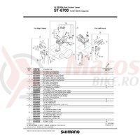 Unitate de schimbare a vitezelor pentru maneta Shimano ST-6700 dreapta