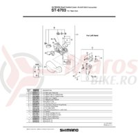 Unitate de schimbare viteze Shimano ST-6703 stanga