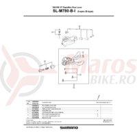 Unitate schimbare viteze Shimano SL-M780-I stanga
