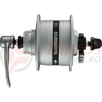Butuc fata dynamo Shimano A-DH3D37 3W 100mm, 36H, Silver, CL, SNSP