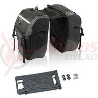 Geanta portbagaj XLC Carrymore negru/antracite pentru XLC system carriers