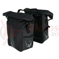 Geanta portbagaj XLC V-light Rolltop double negru